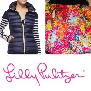 """Lilly Pulitzer """"Allie"""" Packable Down Puffer Vest"""